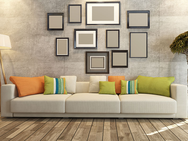 Create a Feature Wall with a Picture Frame Collage
